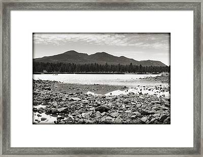 Cataract Lake Black And White Framed Print by Ricky Barnard