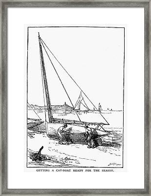 Catboat, 1882 Framed Print