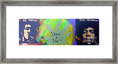 Catch A Fire Framed Print by Tony B Conscious