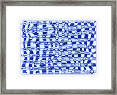 Catch A Wave - Blue Abstract Framed Print by Carol Groenen