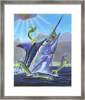 Catch Em Up Framed Print by Carey Chen