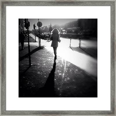 Catch Me If You Can. #woman #running Framed Print