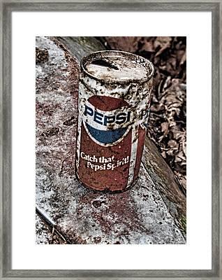 Catch That Pepsi Spirit Framed Print