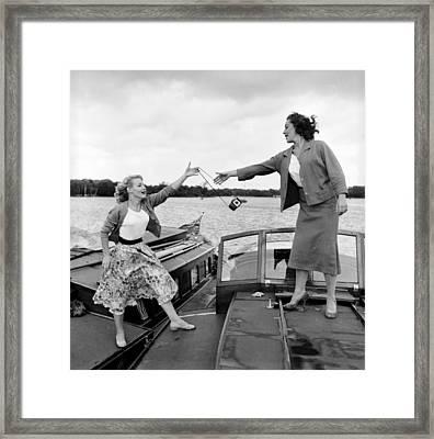 Catch The Camera Framed Print by John Drysdale
