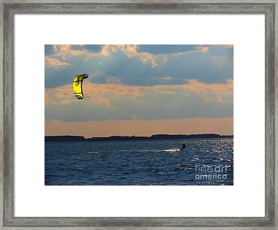 Catch The Wind Framed Print by Rrrose Pix
