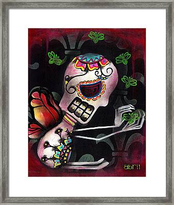 Catching Bugs Framed Print by  Abril Andrade Griffith