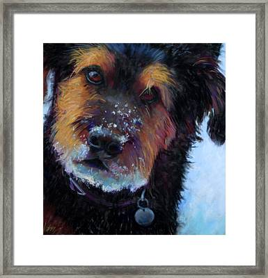 Catching Snowballs Framed Print by Billie Colson