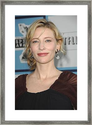 Cate Blanchett At Arrivals Framed Print by Everett