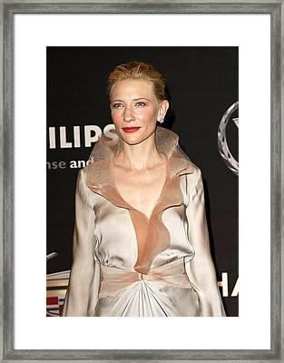 Cate Blanchett At Arrivals For 13th Framed Print by Everett