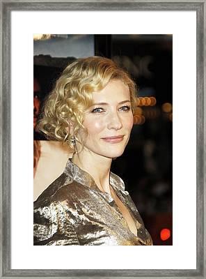 Cate Blanchett At Arrivals For Babel Framed Print by Everett