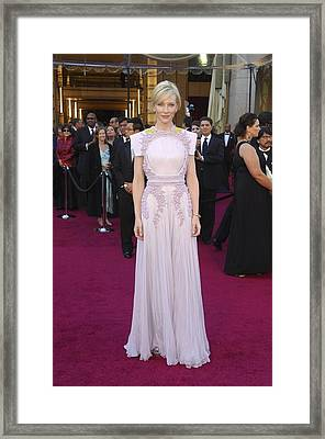 Cate Blanchett  Wearing A Givenchy Framed Print