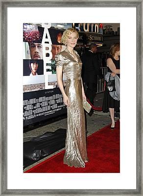 Cate Blanchett Wearing A Ralph Lauren Framed Print by Everett