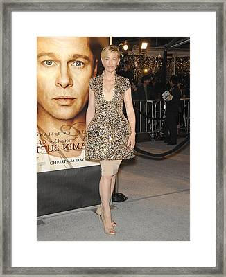 Cate Blanchett Wearing Alexander Framed Print by Everett