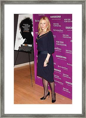 Cate Blanchett Wearing An Alexander Framed Print by Everett