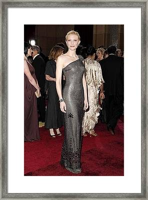 Cate Blanchett Wearing Armani Prive Framed Print