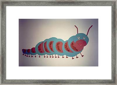 Caterpillar Framed Print by Val Oconnor