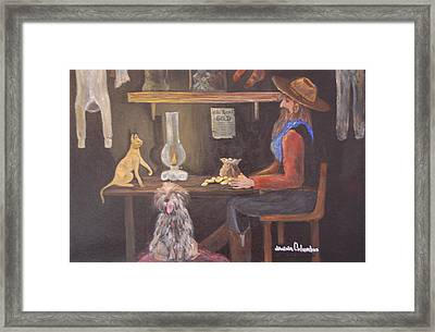 Catfish And Nugget Framed Print by Janna Columbus