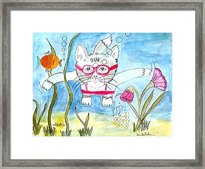Framed Print featuring the painting Catfish by Lou Belcher