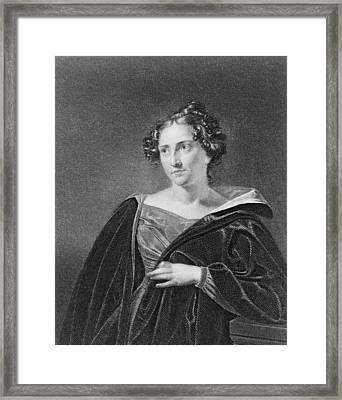 Catharine Maria Sedgwick 1789-1867 Framed Print by Everett