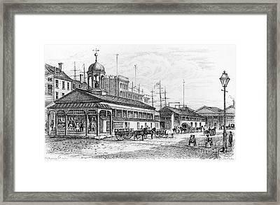 Catharine Market, 1850 Framed Print