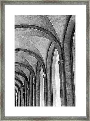 Cathedral At Eberbach Monastery Framed Print by Dg73