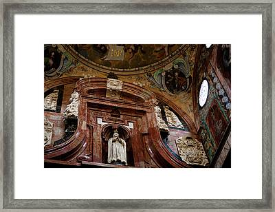 Framed Print featuring the photograph Cathedral Ceiling Detail by Lorraine Devon Wilke