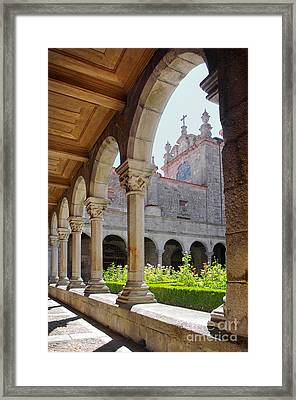 Cathedral Cloister Framed Print by Carlos Caetano