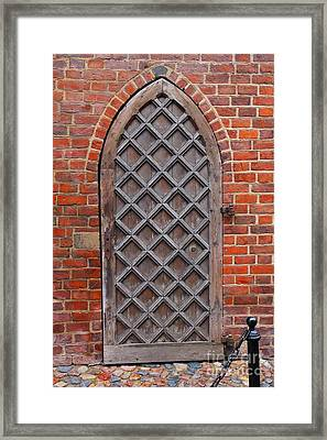 Cathedral Door In Gdansk Framed Print by Sophie Vigneault