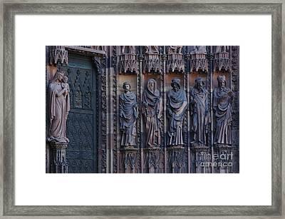 Cathedral In Strasbourg Details Framed Print