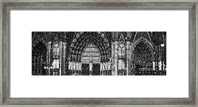 Framed Print featuring the photograph Cathedral In The Snow Panorama by Andy Prendy