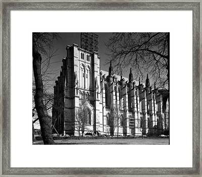 Cathedral Of Saint John The Divine, New Framed Print by Everett