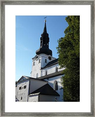 Cathedral Of Saint Mary The Virgin In Tallinn Framed Print by Christopher Mullard