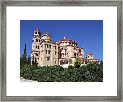 Cathedral Of Saint Nectarios At Aegina Framed Print