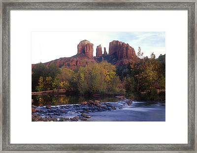 Framed Print featuring the photograph Cathedral Rock by Darleen Stry
