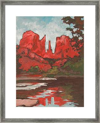 Cathedral Rock Framed Print by Sandy Tracey