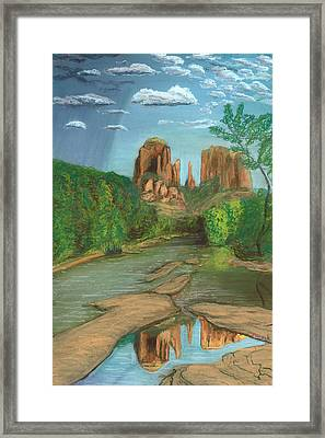 Cathedral Rock Sedona Framed Print by Jackie Novak