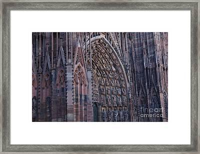 Catherdral In Strasbourg Germany Framed Print