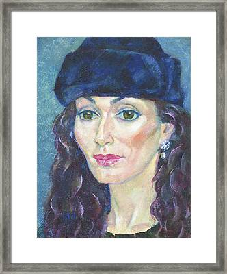 Catherine Chicherin Framed Print by Leonid Petrushin