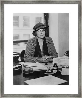 Catherine Curtis Hosted A Radio Program Framed Print by Everett