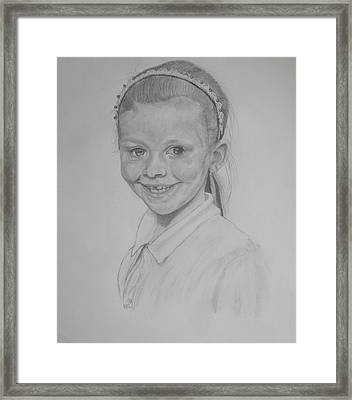 Catherine's Grandaughter Framed Print by Peter Edward Green