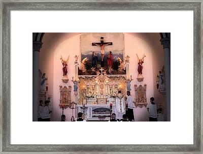Catholic Mass Framed Print by Myrna Migala