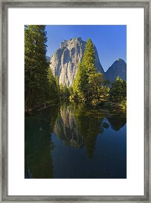 Cathredal Rocks Reflection Framed Print by Joe Darin