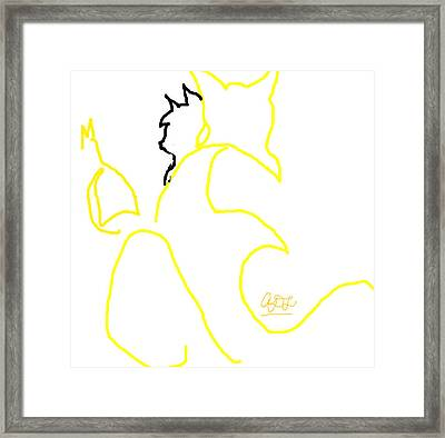 Cats At Window Framed Print by Anita Dale Livaditis