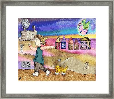 Cats Don't Skate Under A Bozo Moon Framed Print