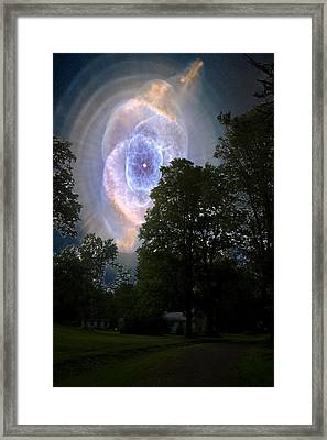 Cat's Eye Nebula From Earth Framed Print