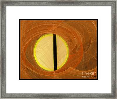 Framed Print featuring the digital art Cat's Eye by Victoria Harrington