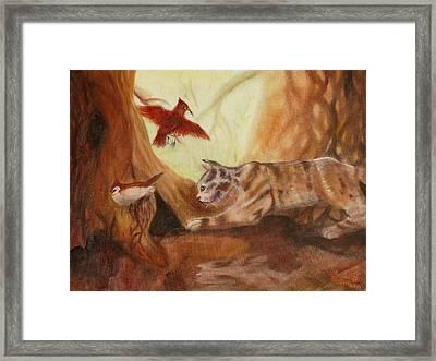 Cat's Hunt Framed Print