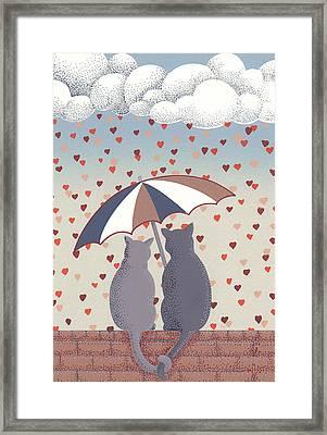 Cats In Love Framed Print