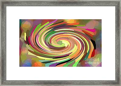Cat's Tail In Motion. Stained Glass Effect. Framed Print by Ausra Huntington nee Paulauskaite