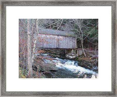 Catskill Covered Bridge Framed Print by Kathryn Barry